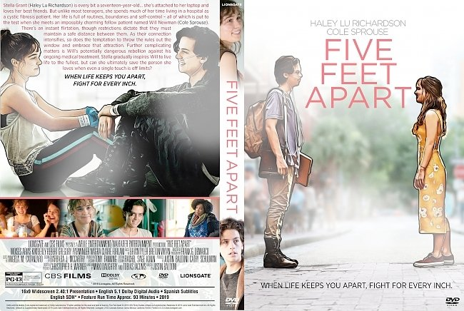 dvd cover Five Feet Apart DVD Cover