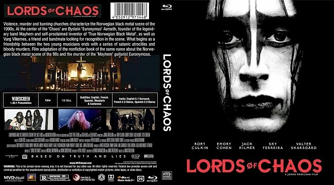 dvd cover Lords of Chaos Bluray Cover