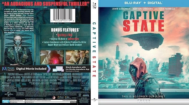 dvd cover Captive State Bluray Cover