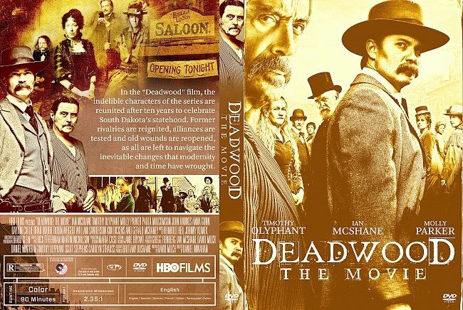 dvd cover Deadwood The Movie DVD Cover