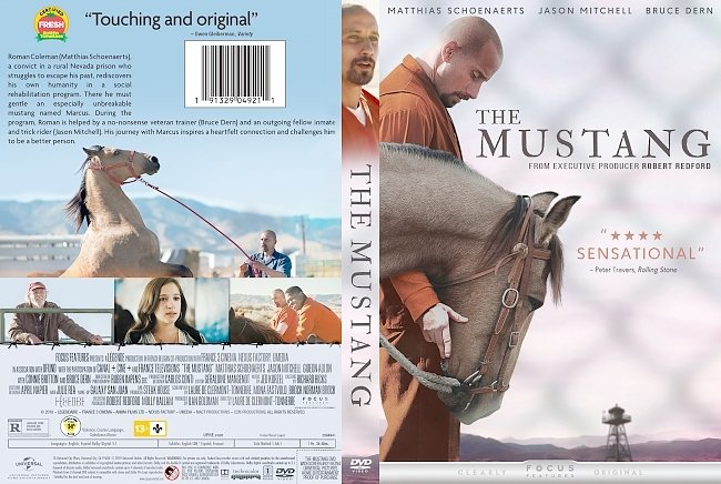 dvd cover The Mustang DVD Cover