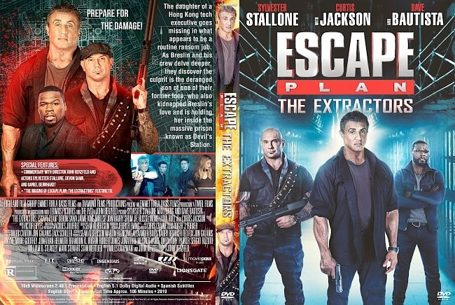 dvd cover Escape Plan The Extractors DVD Cover