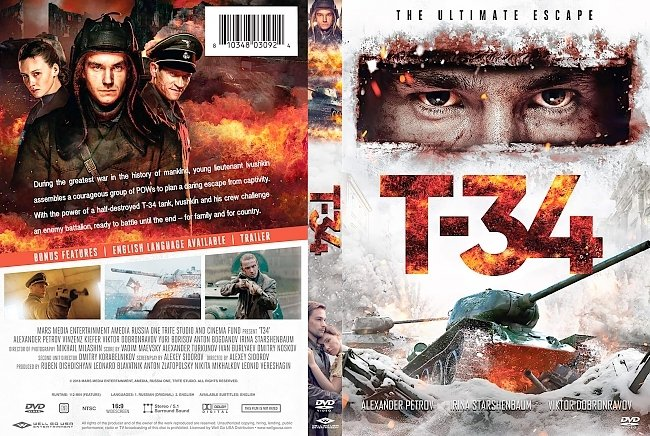 dvd cover T-34 DVD Cover