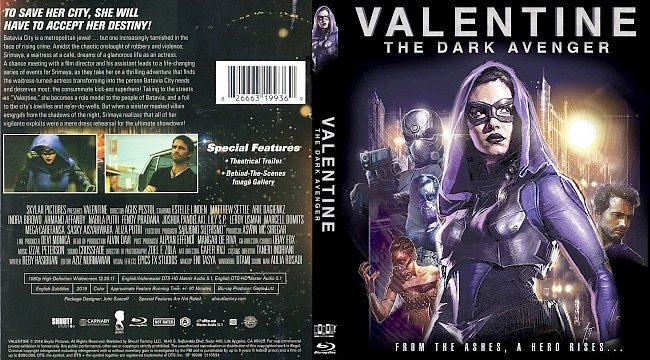dvd cover Valentine The Dark Avenger Bluray Cover