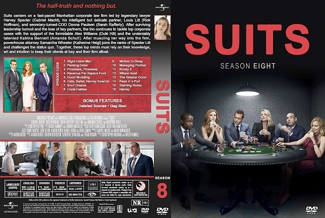 dvd cover Suits Season 8 DVD Cover