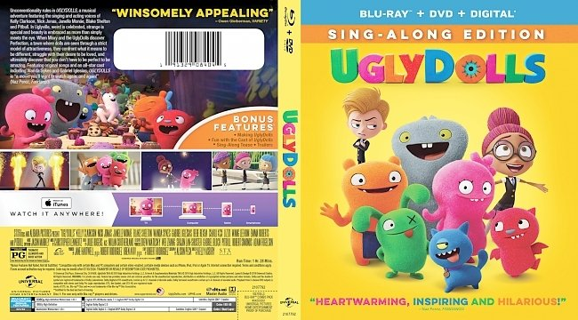 dvd cover UglyDolls Bluray Cover