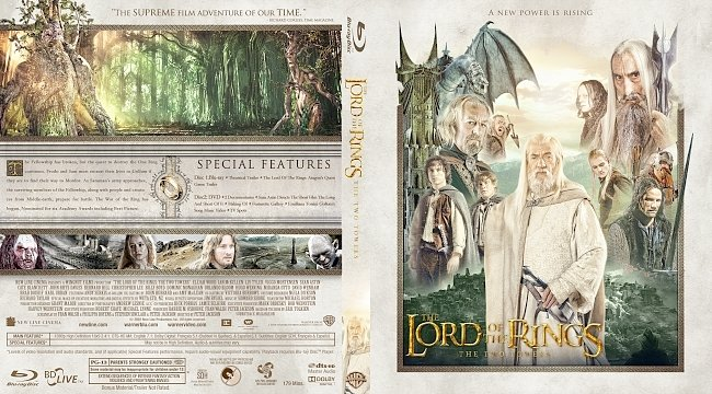 dvd cover The Lord of the Rings: The Two Towers Bluray Cover