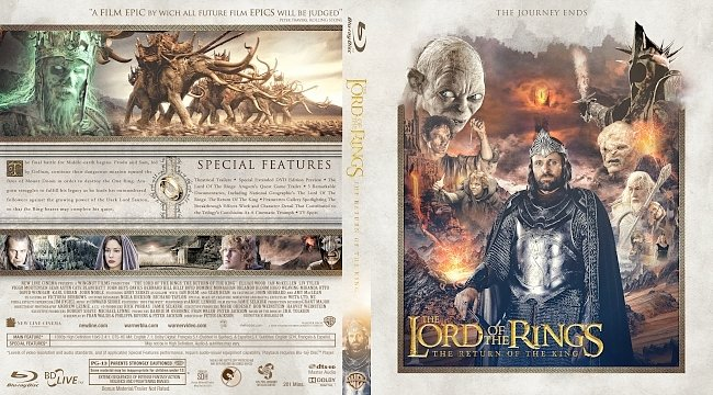 dvd cover The Lord of the Rings: The Return of the King Bluray Cover
