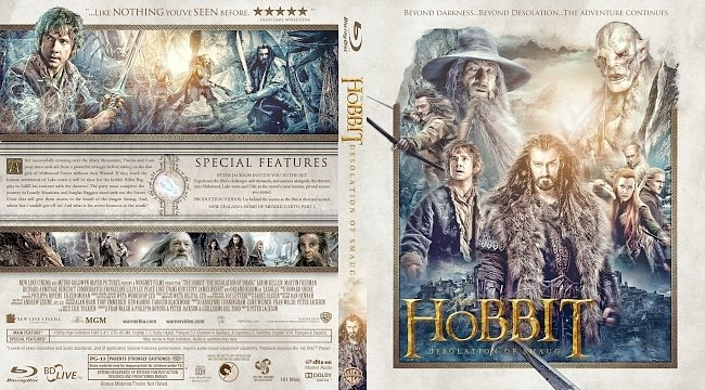 dvd cover The Hobbit: The Desolation of Smaug Bluray Cover
