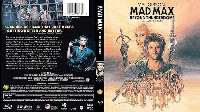 dvd cover Mad Max Beyond Thunderdome Bluray Cover
