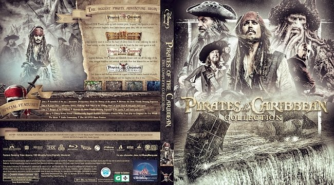 dvd cover Pirates of the Caribbean Collection Bluray Cover