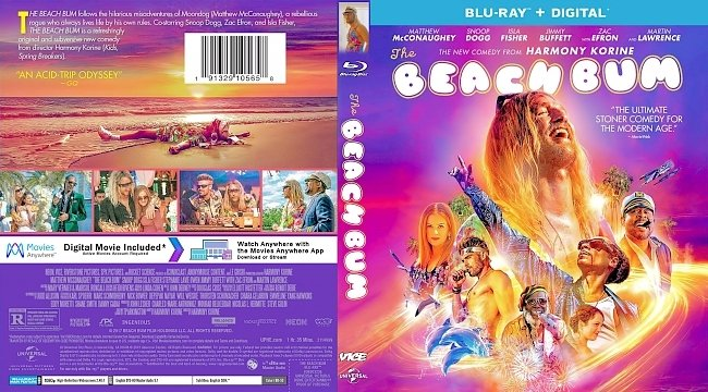 dvd cover The Beach Bum Bluray Cover