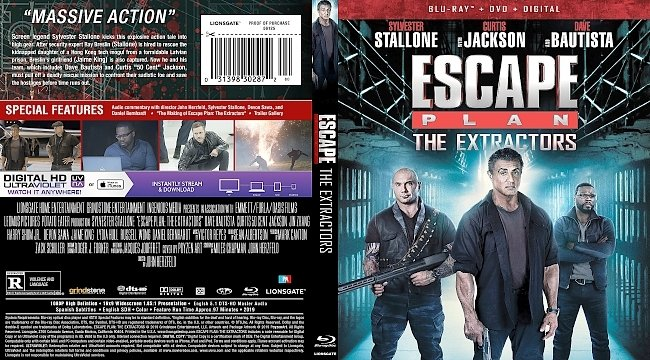 dvd cover Escape Plan: The Extractors Bluray Cover