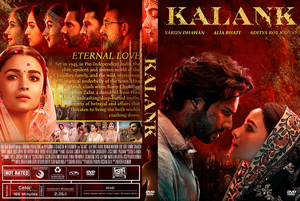 dvd cover Kalank DVD Cover