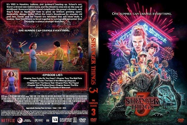 dvd cover Stranger Things Season 3 DVD Cover