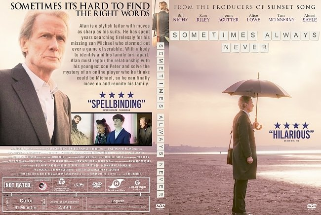 dvd cover Sometimes Always Never DVD Cover