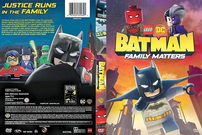 dvd cover LEGO DC Batman Family Matters DVD Cover