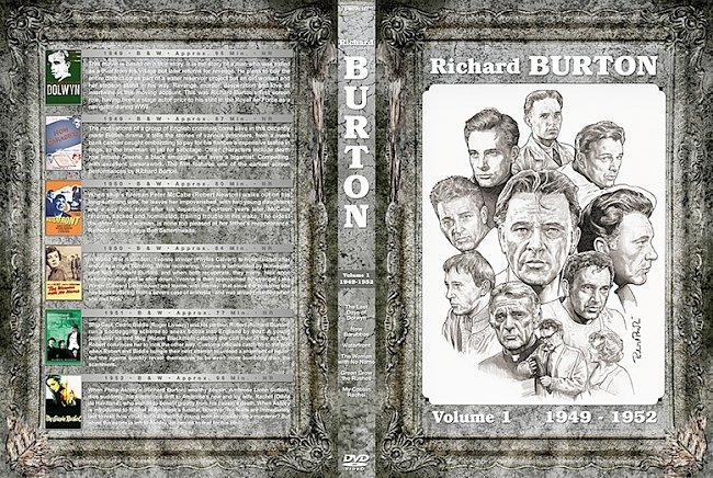 dvd cover Richard Burton Filmography Vol 1-10 Large Spine DVD Cover