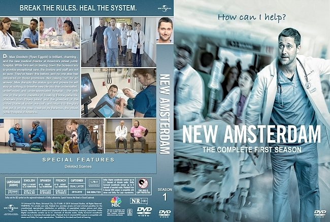 dvd cover New Amsterdam Season 1 DVD Cover