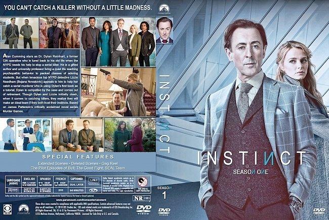 dvd cover Instinct Season 1 DVD Cover