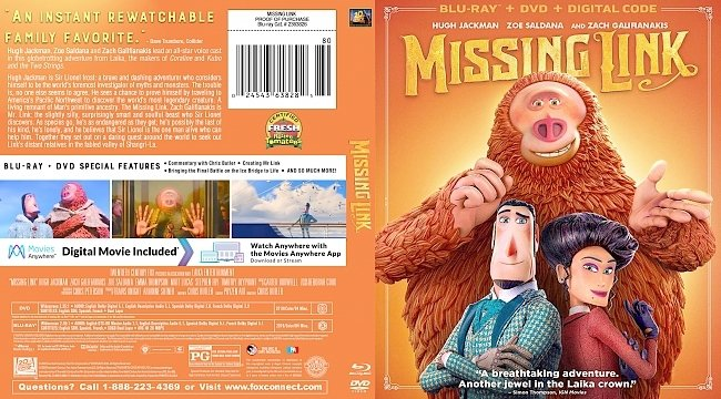 dvd cover Missing Link Bluray Cover