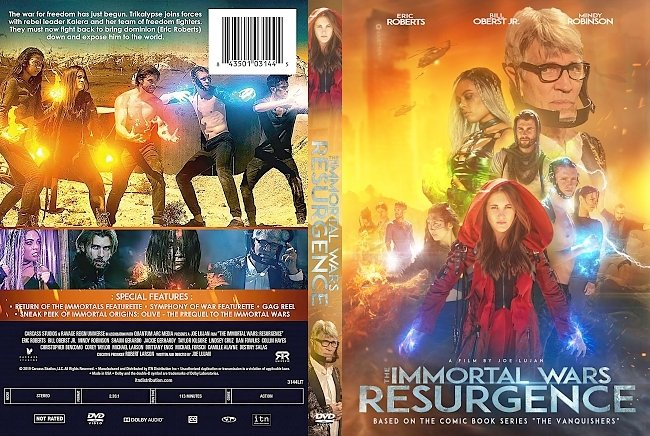 dvd cover The Immortal Wars Resurgence DVD Cover