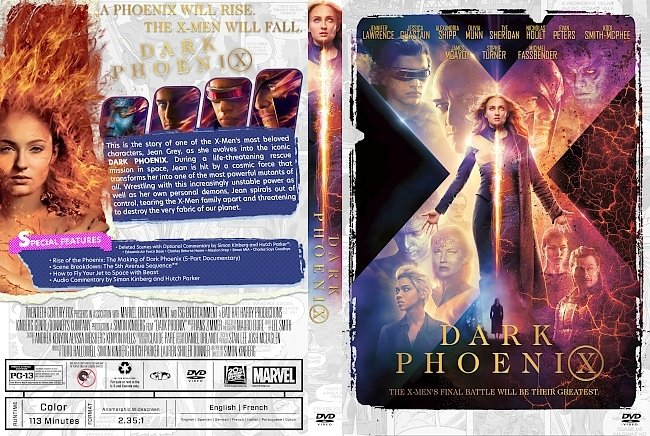 dvd cover Dark Phoenix DVD Cover