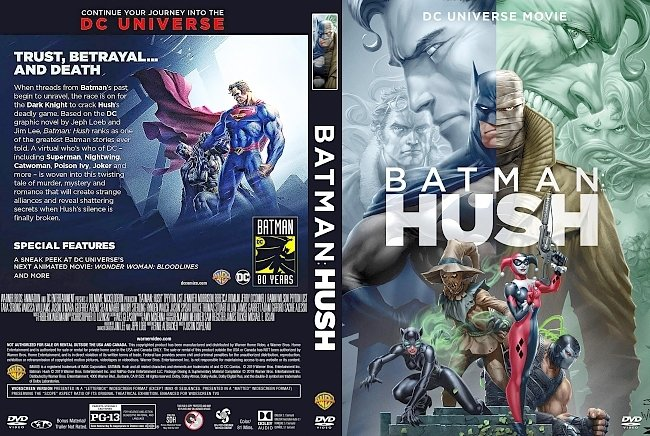 dvd cover Batman Hush DVD Cover
