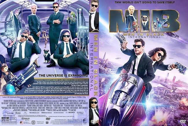 dvd cover Men in Black International DVD Cover