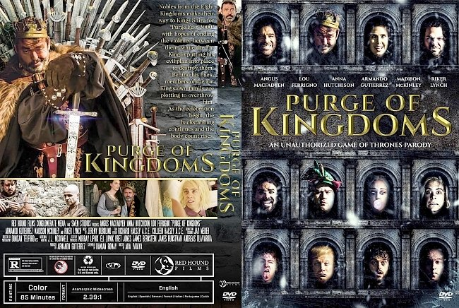 dvd cover Purge of Kingdoms: The Unauthorized Game of Thrones Parody DVD Cover