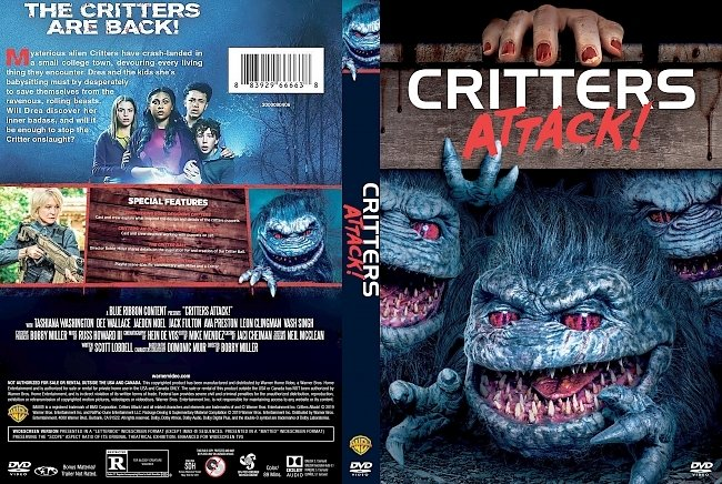 dvd cover Critters Attack! DVD Cover