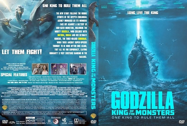 dvd cover Godzilla King of the Monsters DVD Cover