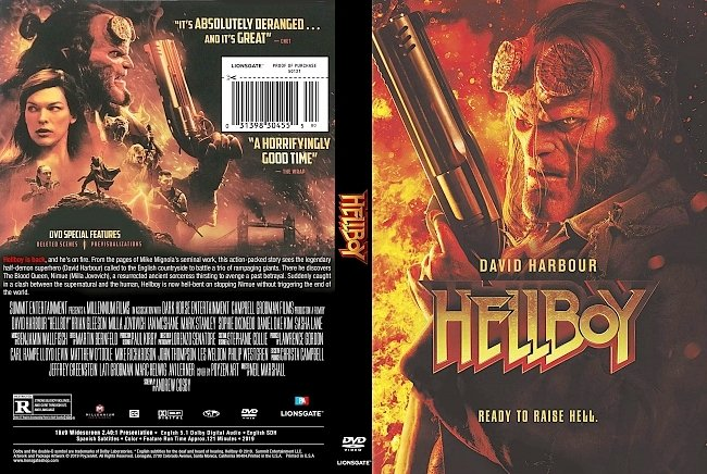dvd cover Hellboy 2019 DVD Cover