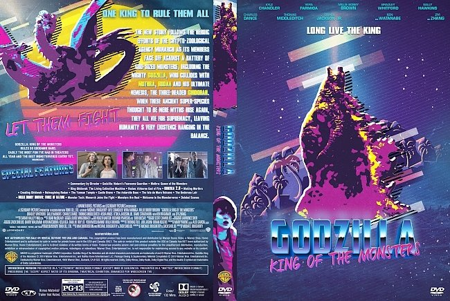 dvd cover Godzilla King of the Monsters 80's Style DVD Cover