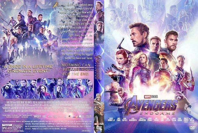 dvd cover Avengers Endgame DVD Cover