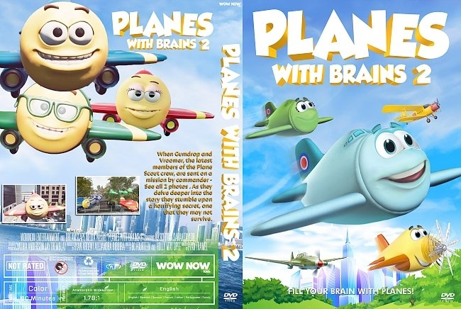 dvd cover Planes with Brains 2 DVD Cover