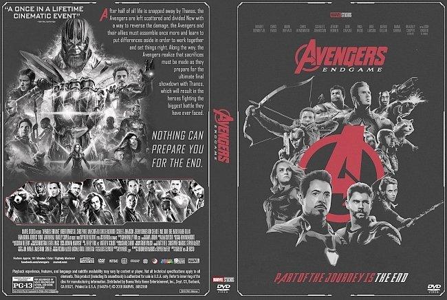 dvd cover Avengers Endgame DVD Cover (noir version)