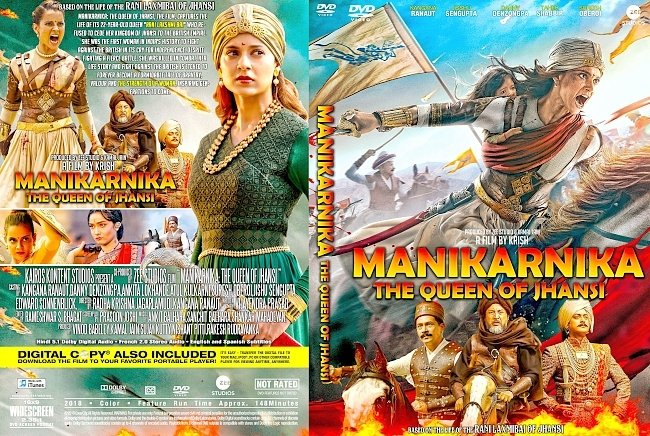 dvd cover Manikarnika The Queen of Jhansi DVD Cover