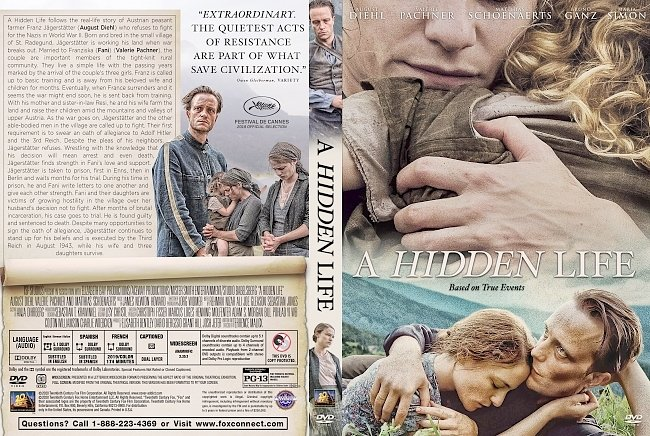 dvd cover A Hidden Life DVD Cover