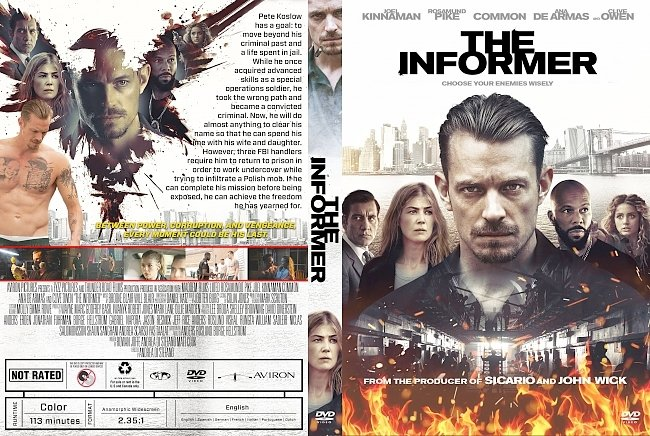 dvd cover The Informer DVD Cover