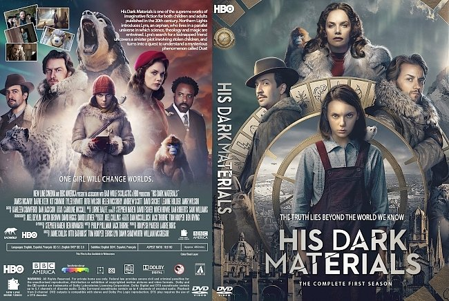 dvd cover His Dark Materials Season 1 DVD Cover