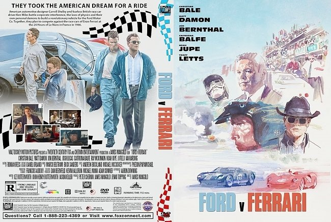 dvd cover Ford v Ferrari DVD Cover