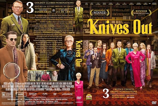 dvd cover Knives Out DVD Cover