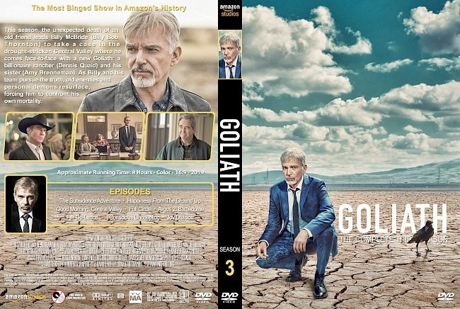 dvd cover Goliath Season 3 DVD Cover
