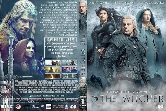dvd cover The Witcher Season 1 DVD Cover