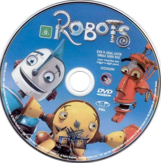 dvd cover Robots 2005 Disc Label