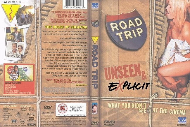 dvd cover Road Trip - Unseen & Explicit 2000