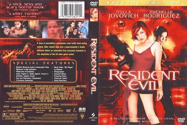 dvd cover Resident Evil - Special Edition 2002 Dvd Cover