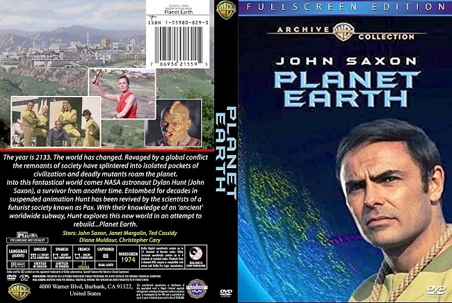 dvd cover Planet Earth 1974 Dvd Cover