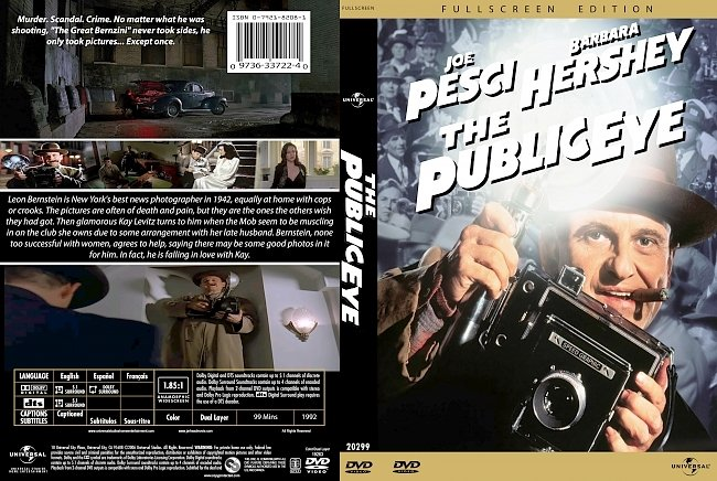 dvd cover The Public Eye 1992 Dvd Cover